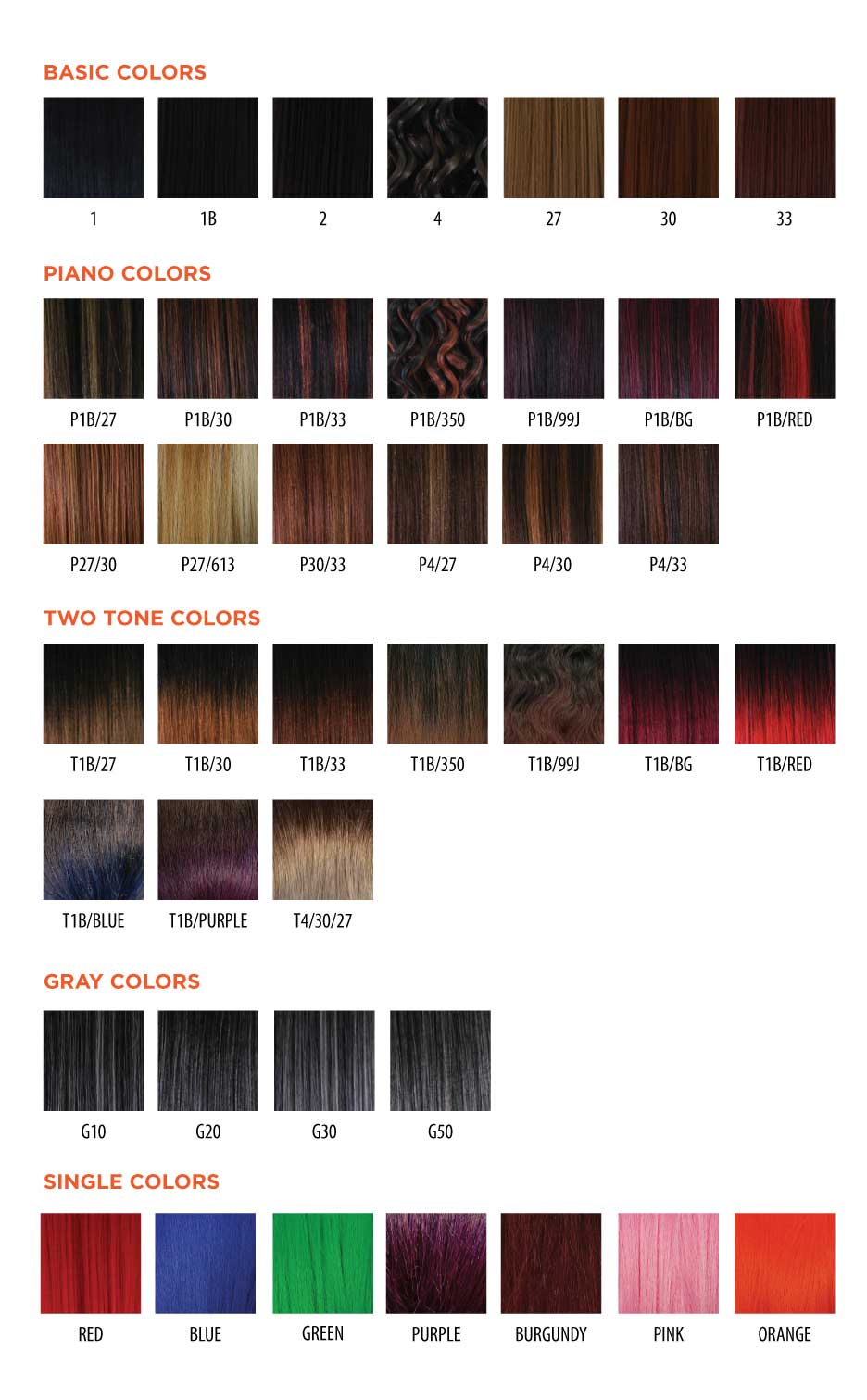 Hair trend inc color chart nvjuhfo Image collections